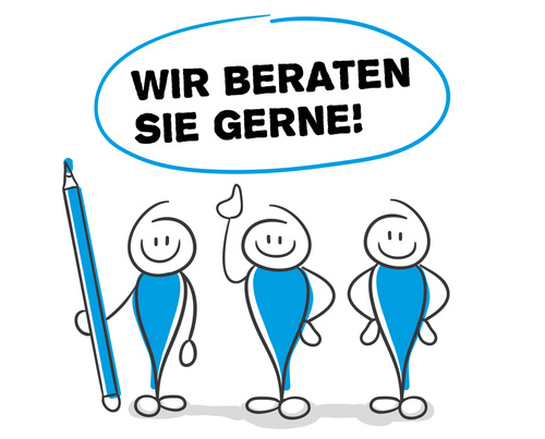 Stick Figure Series Blue / Wir beraten sie gerne